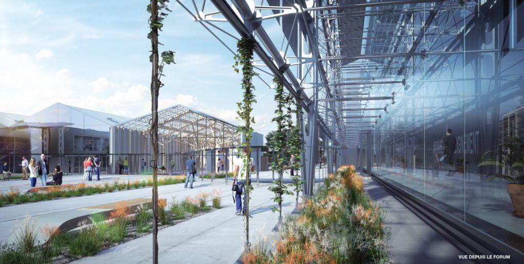 Le chantier du nouveau Bâtiment CFA Ille-et-Vilaine à Montgermont